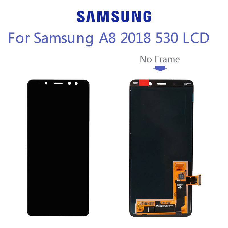 For <font><b>Samsung</b></font> Galaxy <font><b>A8</b></font> 2018 A530 A530F A530DS A530N SM-A530N Touch <font><b>Screen</b></font> Digitizer LCD <font><b>Display</b></font> Assembly image