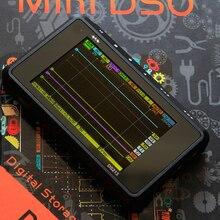 Цифровой осциллограф Профессиональный портативный scopemeter 4 канала 100 мс/с мини нано USB ARM DSO213 DS213 с X1 и X10 зонд