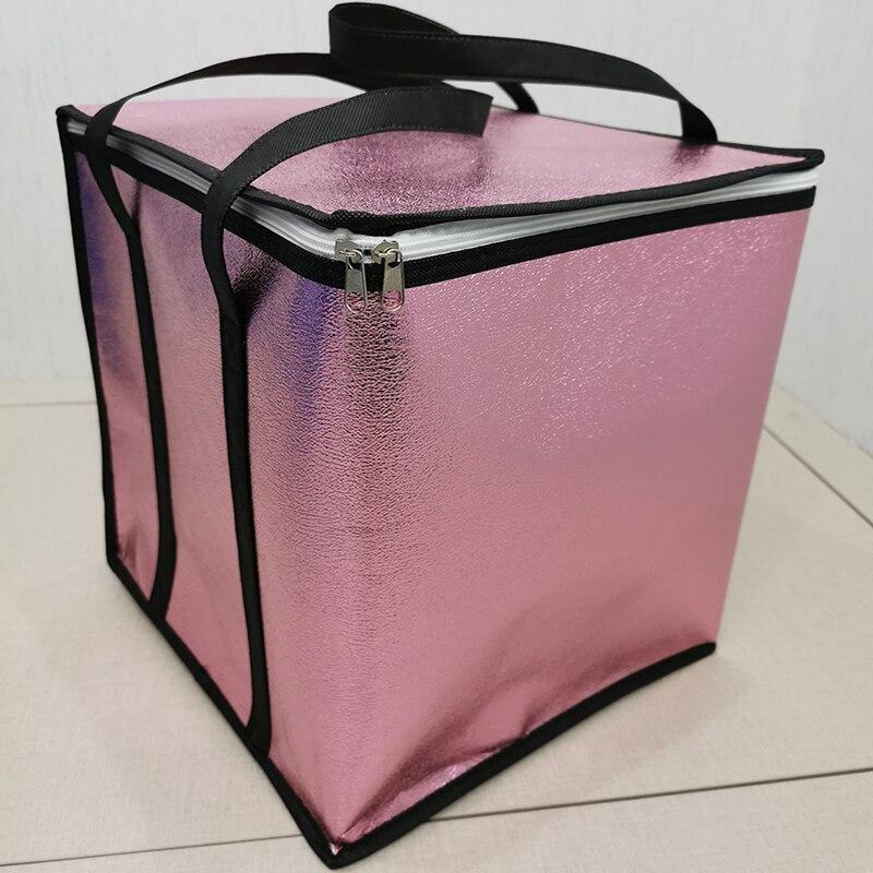 Papier daluminium grande capacité sac isotherme pour gâteau femmes nourriture sac isolé Portable livraison glace Pack pliable sacs thermiques