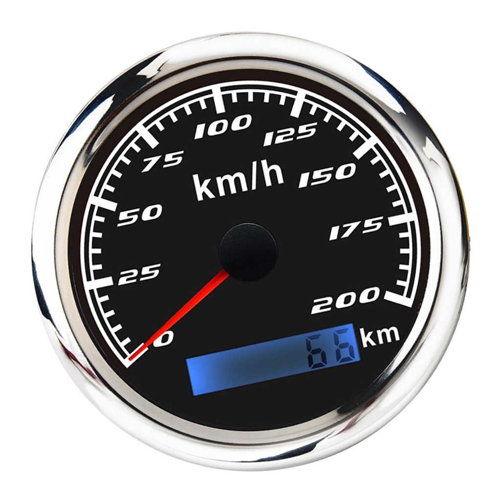 Thép Không Gỉ 316 L Ốp Viền 85 Mm (3/8 '') định Vị GPS Đo Tốc Độ Đồng Hồ Đo 200 Dặm/Giờ Đồng Hồ Đo Cho ATV Xe Máy Mềm Thuyền