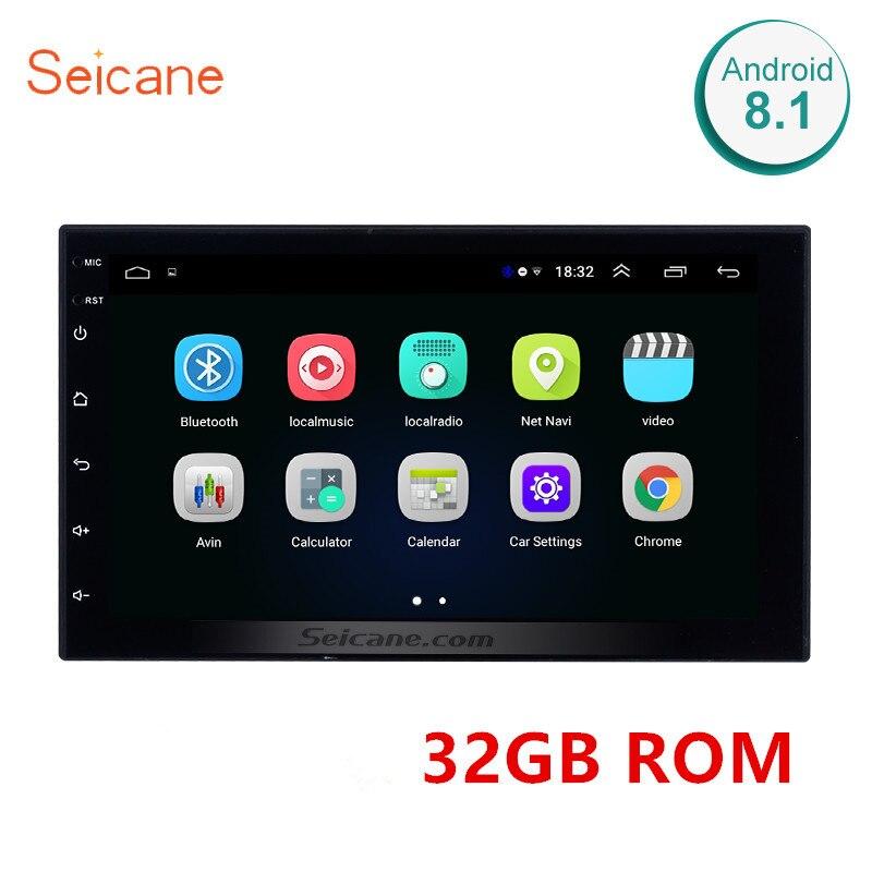 Seicane RAM 1GB + ROM 32GB universel 2din Android 8.1 voiture tête unité lecteur pour Honda Toyota Nissan Kia RAV4 Suzuki VW Hyundai