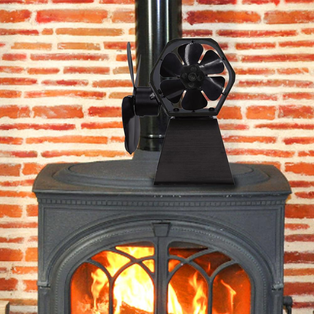 Black Stove Thermal Power Fireplace Fan New High Quality Europe And America Style Hot Power Four Page Fan Wood Fireplace Fan Hom