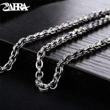 Мужское серебряное ожерелье zabra буддизмская мантра с цепочкой