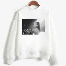 New White Hoodies Kawaii Ariana Grande Print Sweatshirt Long Sleeve Women/men Clothes 2019 Hot Sale Casual Kpop Plus Size