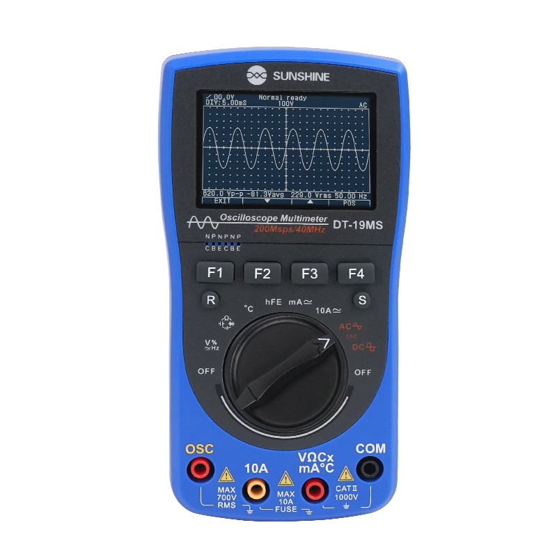 SUNSHINE Oscilloscope Multimeter Handheld DC AC Tester 2 In 1 Voltage Current Multi Function 6000 Yards 40MHz Digital Multimeter
