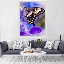 Ручной работы DIY цветочные картины дома гостиной украшения красочные бабочки точка дрель алмазная живопись