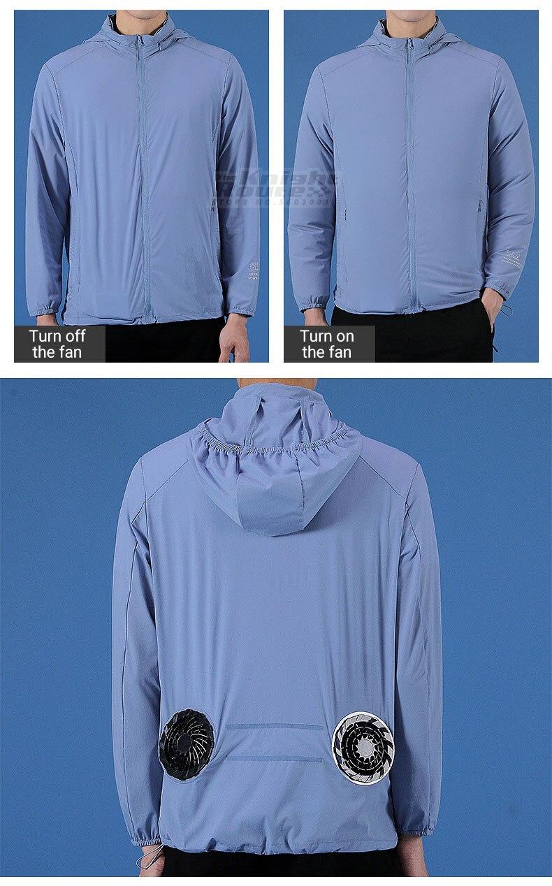 blusão usb fonte de alimentação runing ciclismo pesca roupas