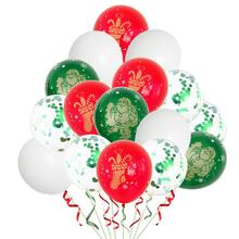2020 New Year Christmas Balloons 12-inch round latex balloons five-sided printing hot stamping Xmas Decoration ZB254