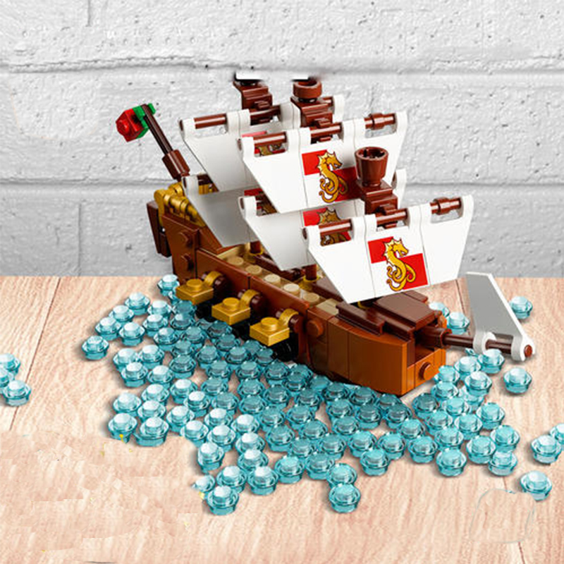 1080Pcs Sy1036 Pirates Of The Caribbean Series Ships in Bottles Creative 21313 Assembled Building Block brickss Toy Model 16051 1