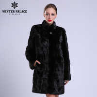 2018 New style fashion natural mlnk stand Collar good quality mlnk fur Coat women natural black Coats of mlnk