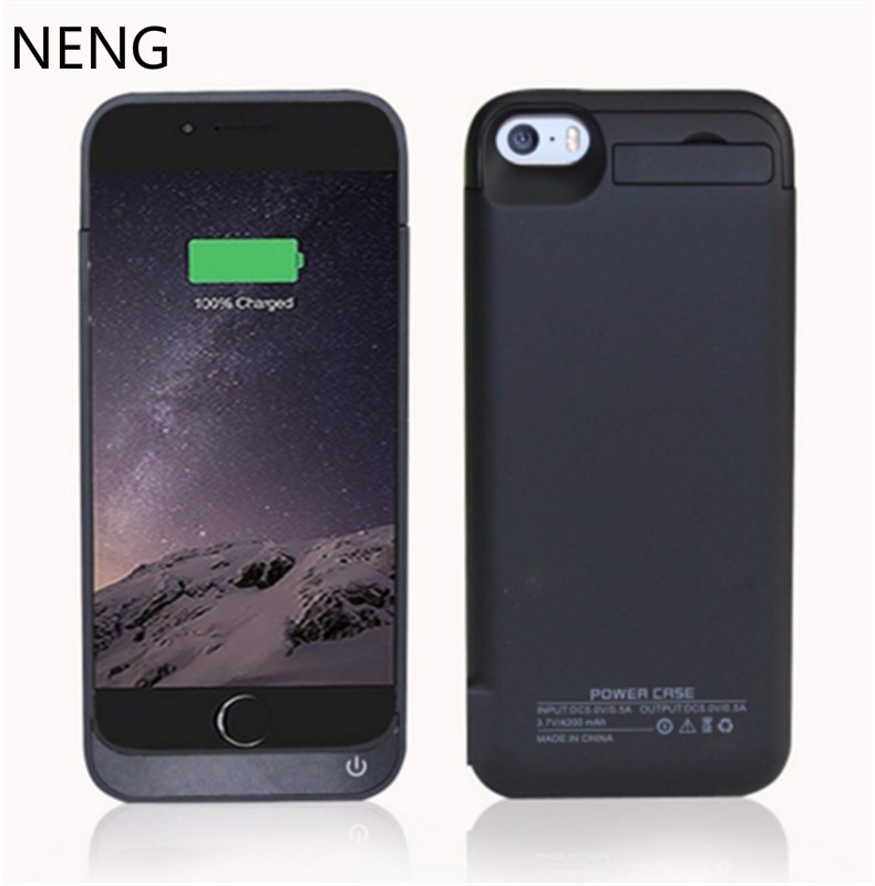 NENG 4200mAh Portable Backup External <font><b>Battery</b></font> Charger <font><b>Case</b></font> For iphone5 SE Powerbank Charging <font><b>Case</b></font> For <font><b>iPhone</b></font> 5C 5S <font><b>Battery</b></font> <font><b>Case</b></font> image