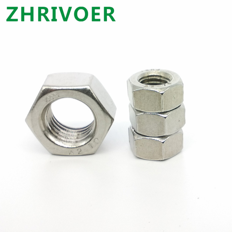 A2-70.304stainless steel hex <font><b>nut</b></font> M1.6-M2-M2.5-<font><b>M2.6</b></font>-M3-M3.5-M4-M5-M6- M8-M10-M12-M14-M16-M18-M20-M22-M24 Bolt <font><b>Nut</b></font> image