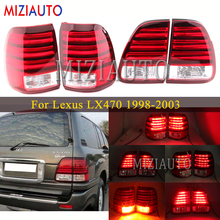 1 Set LED tail light For Lexus LX470 1998-2003 Rear Bumper Reflector Tail Stop Lamp For Car Accessories turn signal Brake lights mzorange 2pcs led rear bumper reflector light tail brake stop drl fog light lamp for toyota land cruiser for lexus lx470 lantern