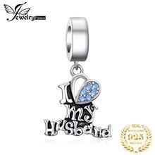 JewelryPalace мужа Любовь стерлингового серебра 925 оригинальный бусины подвески для браслета оригинальных ювелирных изделий