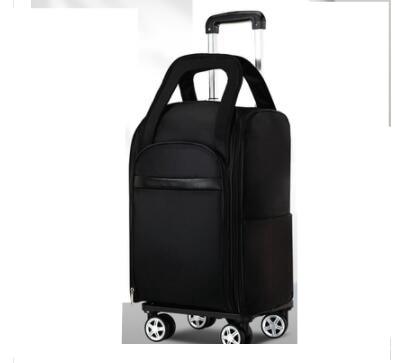 Sacs de chariot de voyage de femmes sacs de bagage de voyage sur des roues sacs à dos de chariot portent des sacs de bagage sac à dos à roulettes de roulement d'oxford