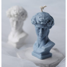 1PC 3D David Plaster Portrait Silicone Mold European Greek Roman for Candle Making DIY Handmade Resin Plaster Wax Mould Gift SW