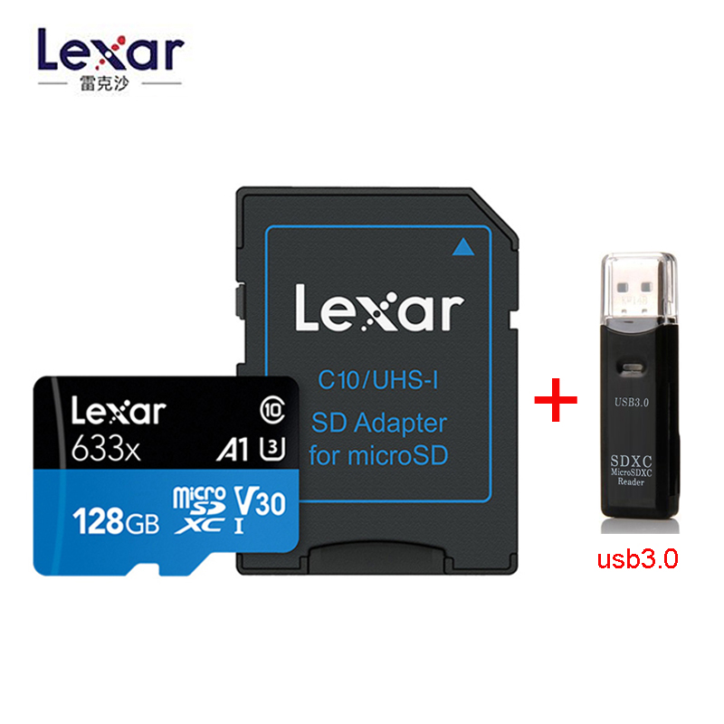 Lexar 633X New Original 95mb/s Micro Sd Card 512GB 1TB 128g 256GB Memory Card Reader Uhs-1 For Drone Gopro Dji Sport Camcorder