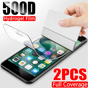 2Pcs 500D Hydrogel Film For iphone 12 11 Pro XS Max XR X Screen Protector For iphone SE 2020 7 8 Plus Protective Film Not Glass