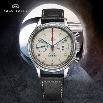 Official Genuine Seagull Watch 1963 38 mm Memorial Watch Air Force One Chronograph Manual Mechanical Watch D304.1963 1