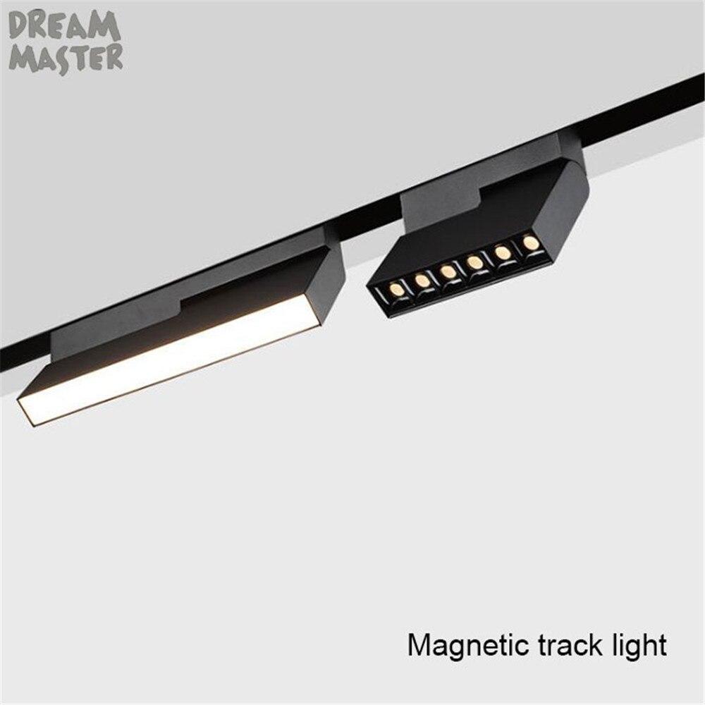 Коммерческий DC24V Магнитный светодиодный Трековый светильник, 3000K 4000K магнитный рельсовый Точечный светильник s, 6 Вт 10 Вт встраиваемый Треков...