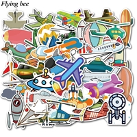 sticker motorcycle Flyingbee 40 pcs Flying gear Sticker hot air balloon Stickers for DIY Luggage Laptop Skateboard Car Motorcycle Stickers X0737 (3)