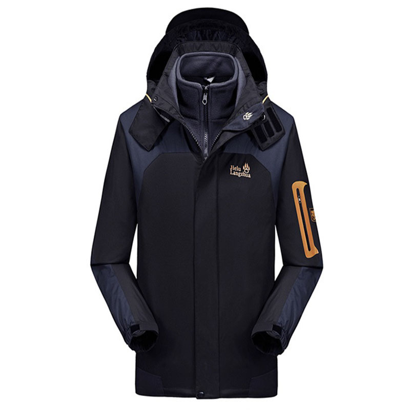 Jack Wolfskin Jie Land Outdoor Waterproof Jacket Women's Three-in-One-Piece MEN'S Assault Jacket Windproof Water Mountaineering