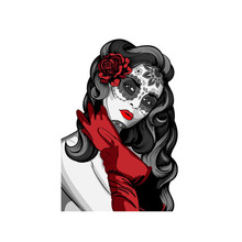 Creative Car Sticker Mexican Calavera Woman Skull Reflective Personality Waterproof Sunscreen Vinyl Decal,13cm*8cm car stickers light bulb skull head motorcycle accessories bumper rear windshield sunscreen waterproof decal vinyl 13cm 8cm
