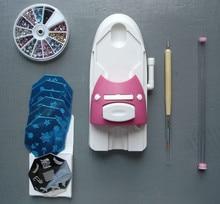 цена на Nail Art DIY Pattern Printer Printing Stamp Manicure Machine Stamper Set Tool manicure Image Plates Accessory Kit