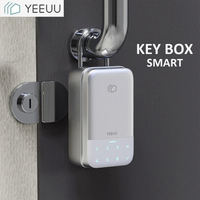 YEEUU K1 2020 New Key Lock Box Smart Phone APP Fingeprint Password Control Electronic Safe Box Aluminum Alloy Storage