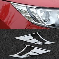 Nissan QASHQAI için J11 araba aksesuarları Far Kaş Göz Kapakları ABS krom trim Kapak QASHQAI J11 2016 araba styling 2 adet|Krom Şekillendirici|   -