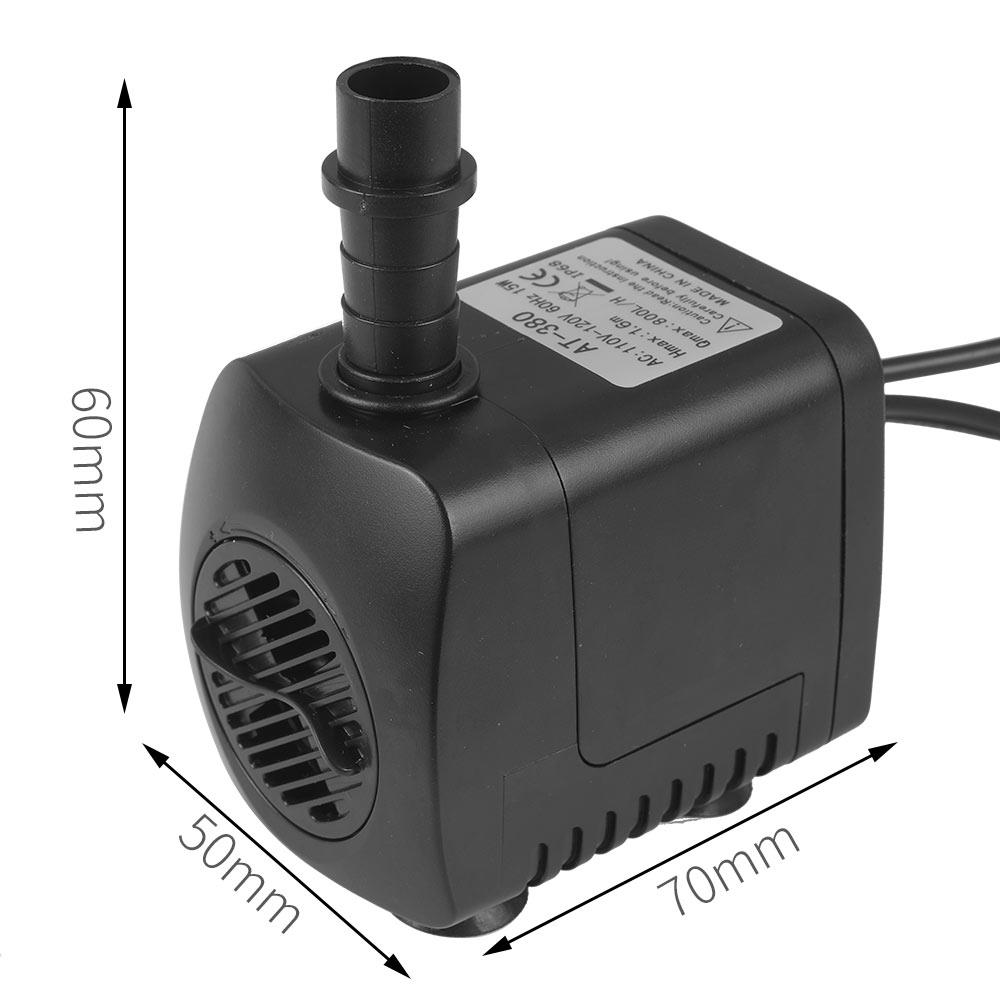Submersível elétrico 15 w fonte bomba submersível