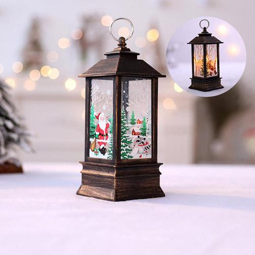 Santa Claus Home Decor LED Light Lamp Hanging Lantern Christmas Decoration Santa Claus Snowman Elk Angle
