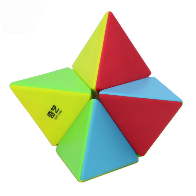 QIYI 2x2 Pyramid Cube Stickerless Magic Cubes Professional 2x2x2 Puzzle Speed Cube Educational Toys For Children 5