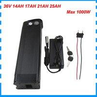36 V 17AH 1000W silber fisch Ebike batterie batterien 36 Volt 25AH lithium-akku verwenden für samsung 3500MAH zelle mit 42V 2A ladegerät