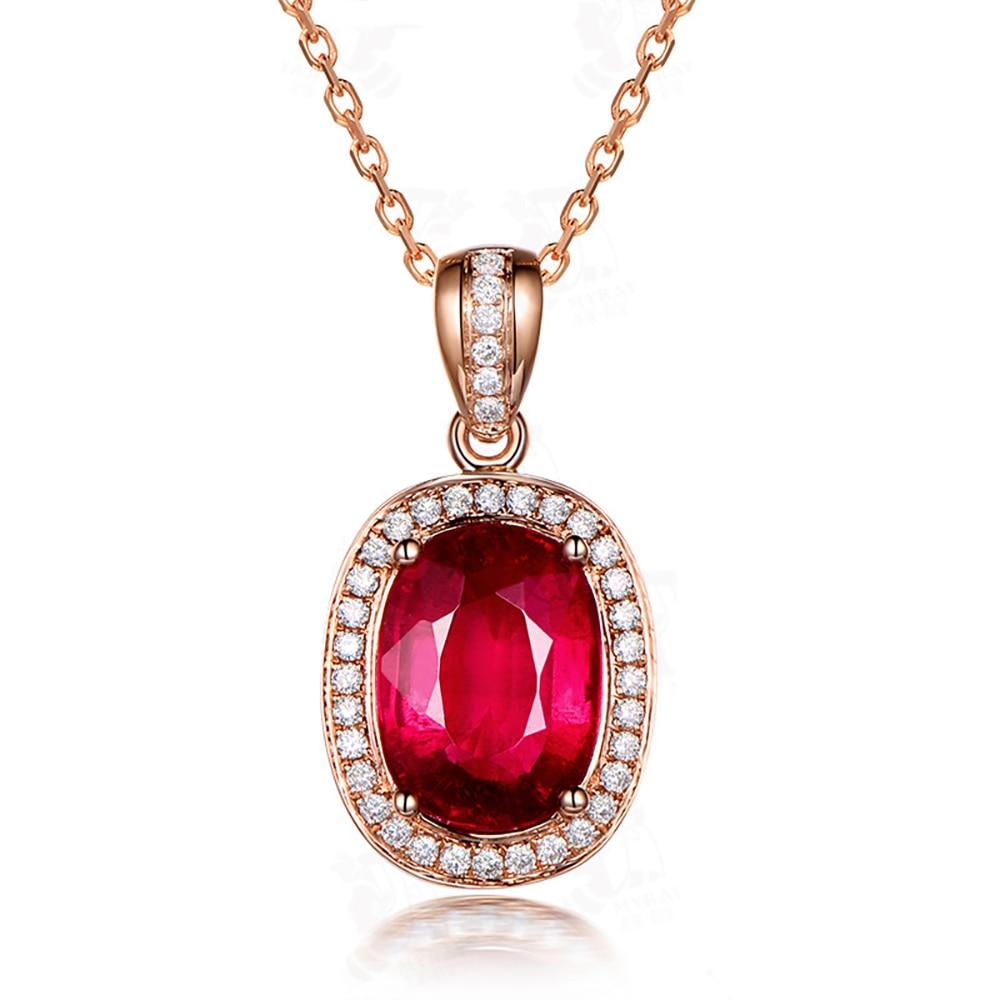 Роскошный Красный Кристалл модное женское ожерелье подвеска на золотой цепочке микро инкрустация кубическим цирконием Элегантное ожерель...