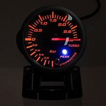 60mm universel Auto voiture fumée Len barre de LED Turbo Boost manomètre(China)