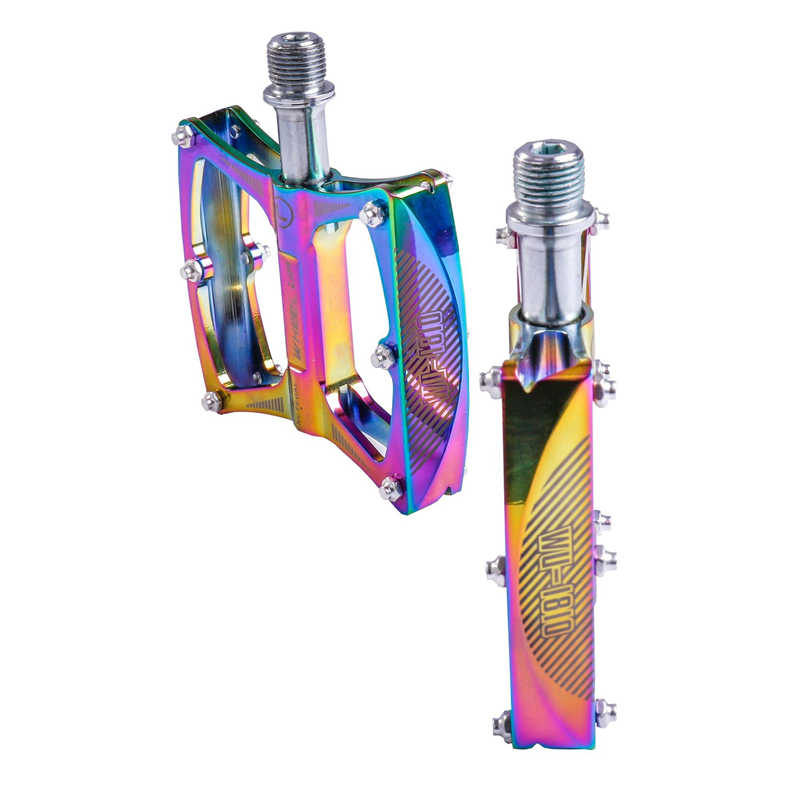 1 Pair Pedals Rainbow Cycling Parts Road Bearing Component Aluminum Alloy
