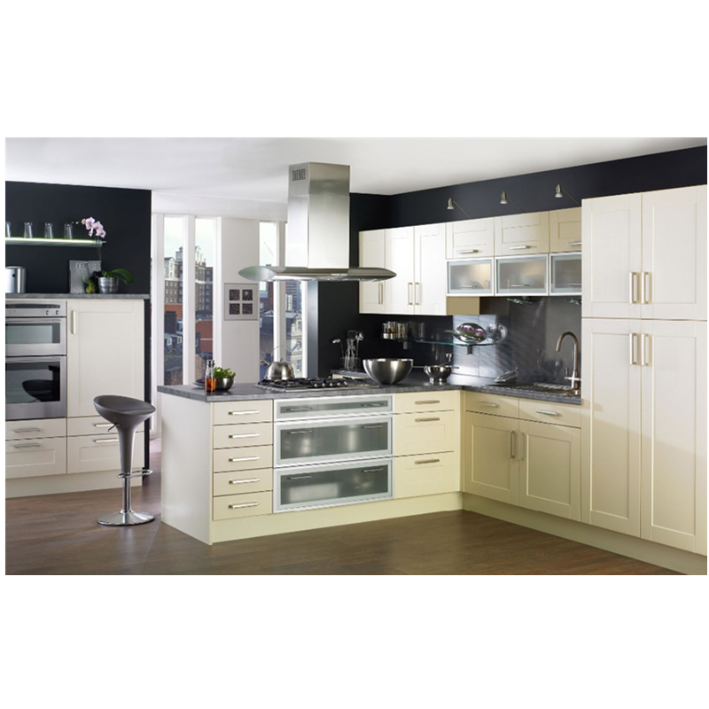 US $869.0 |Adornus luxury white shaker solid wood designs kitchen cabinet  sets-in Kitchen Cabinets from Home Improvement on AliExpress