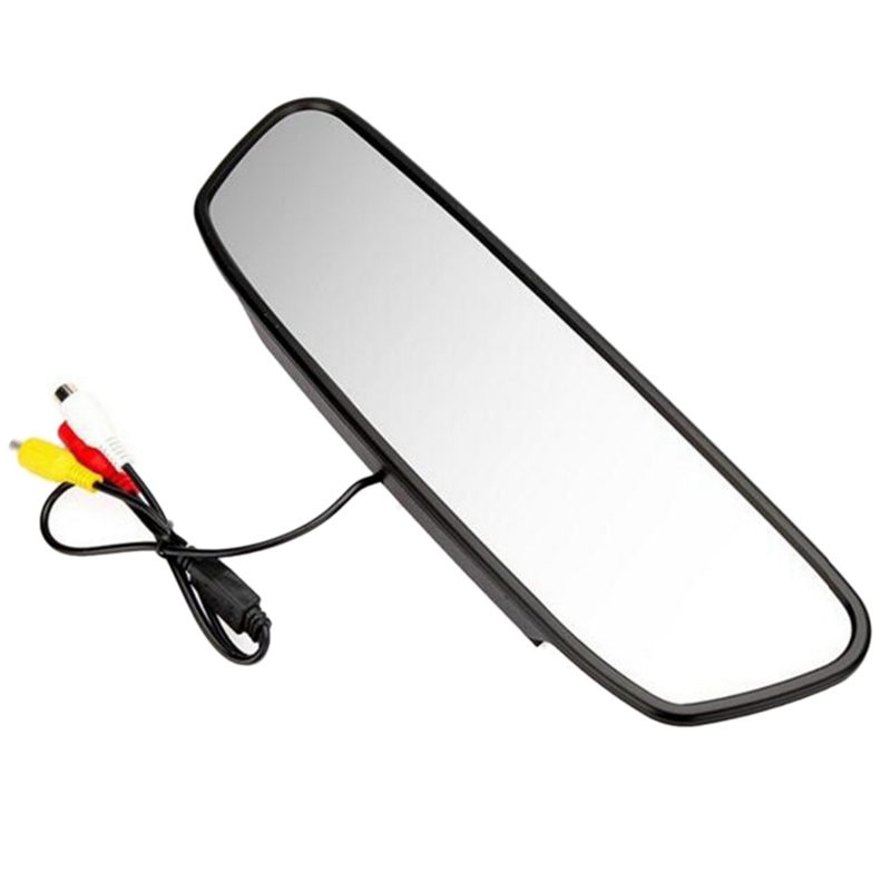 4.3 Inch Car Hd Rearview Mirror Monitor Automatic Parking Assist Led Reversing Rear View Camera|Vehicle Camera| |  - title=