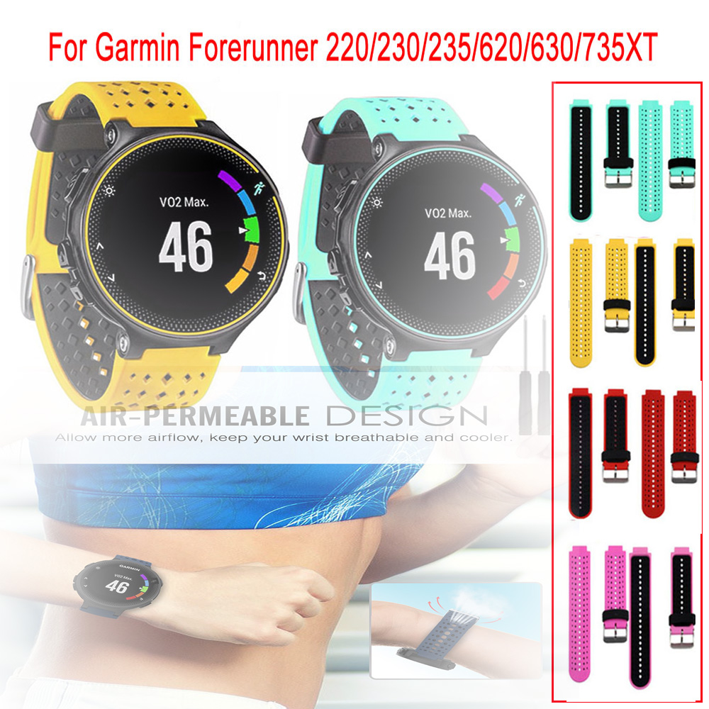 For Garmin Forerunner 235 Band Silicone Strap Bracelet For Garmin Forerunner 220/230/235/620/630/735XT/235Lite Accessory