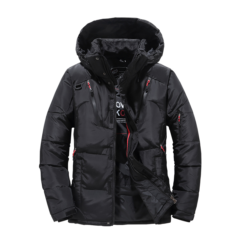 Thick Warm Men Duck Down Winter Jacket Men Hooded Thicken Parka Coat Casual Slim Down Men's Overcoat With Many Pockets