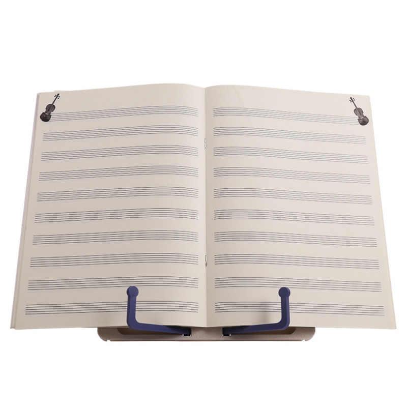 Portátil dobrável leve música rack estande bookend música pontuação de leitura suporte da folha para guitarra piano instrumento violino