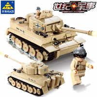 995 Uds. Rey alemán Tigre juego de bloques de construcción de tanques LegoINGs técnica militar segunda guerra mundial soldados Juguetes niños DIY ladrillos Juguetes