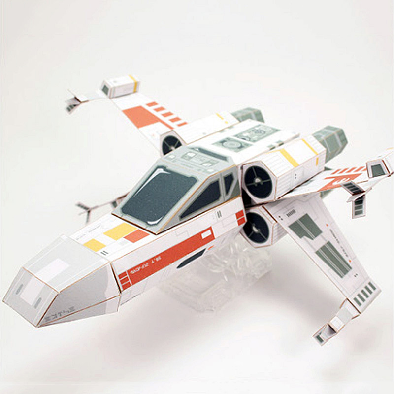 Star Wars X-wing Starfighter Folding Cutting Mini 3D Paper Model Papercraft Space Ship DIY Cubee Kids Adult Craft Toys FC-014