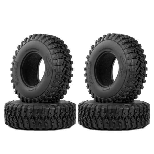 for 1/10 Traxxas TF2 Redcat Rc4Wd Tamiya Scx10 D90 Hpi Crawler 4PCS AX8020 1.9 Inch RC Car Wheel Tire