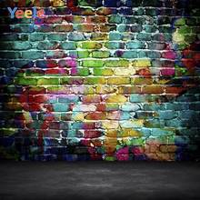 Yeele Photocall Graffiti Bricks Wall Grunge Floor Photography Backdrops Personalized Photographic Backgrounds For Photo Studio