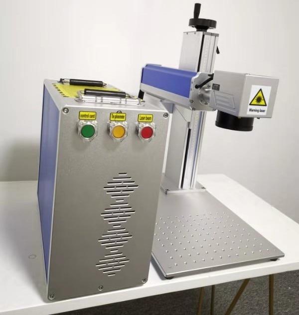Fiber Laser Marking Machine With Rotary 30W Raycus Metal Engraving Machine 1