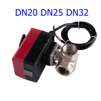 Electric Ball Valve  Brass Motorized Valve Three Way Valve Can be Manually and Automatically AC 220V 24V DN20 DN25 DN32