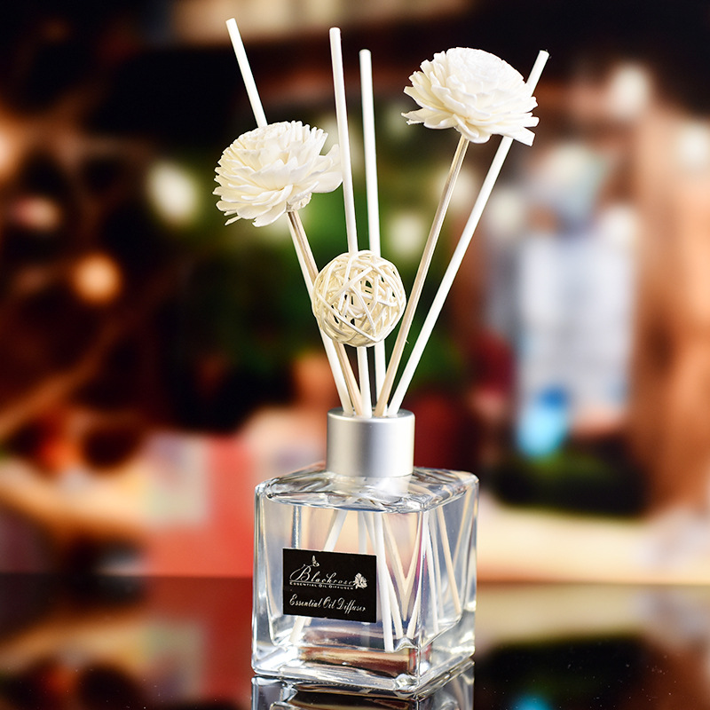 1pcs Aroma Essential Oil Air Freshener Decorative Glass Bottle Scented Aromatherapy Reed Diffuser For Gift