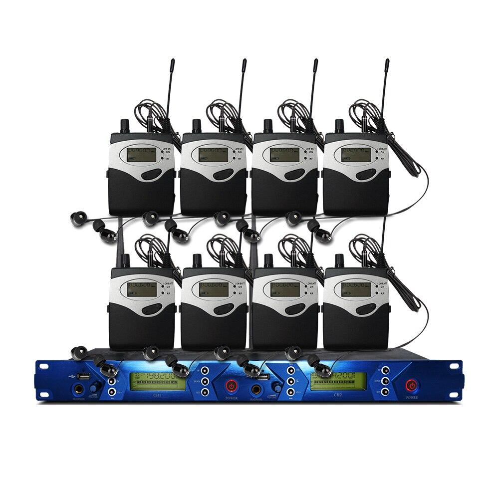 In Ear-Monitor-System 2 Kanal 7 Taschensender Monitor mit Monitor Wireless für Bühne Studio Ausrüstung
